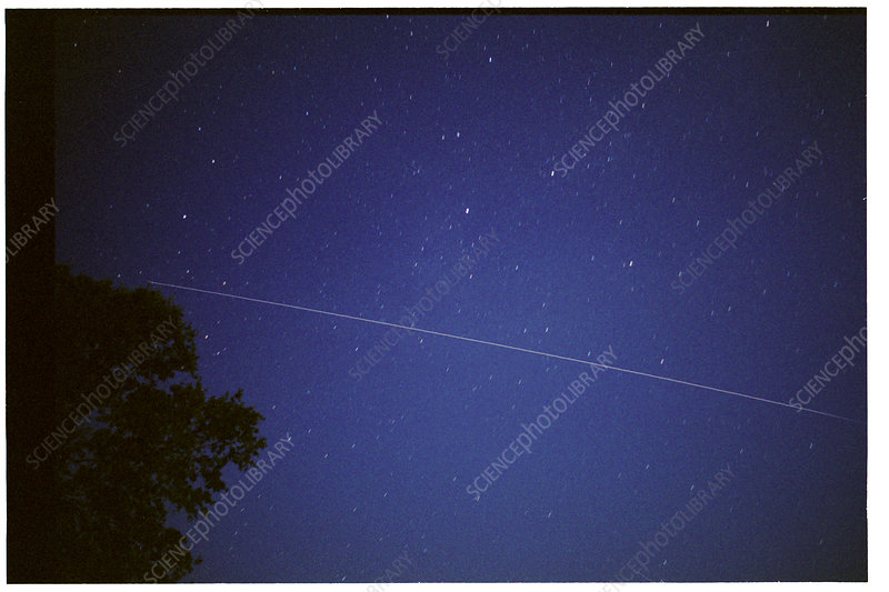 International Space Station trail