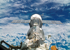Soyuz docked to ISS, April 2005