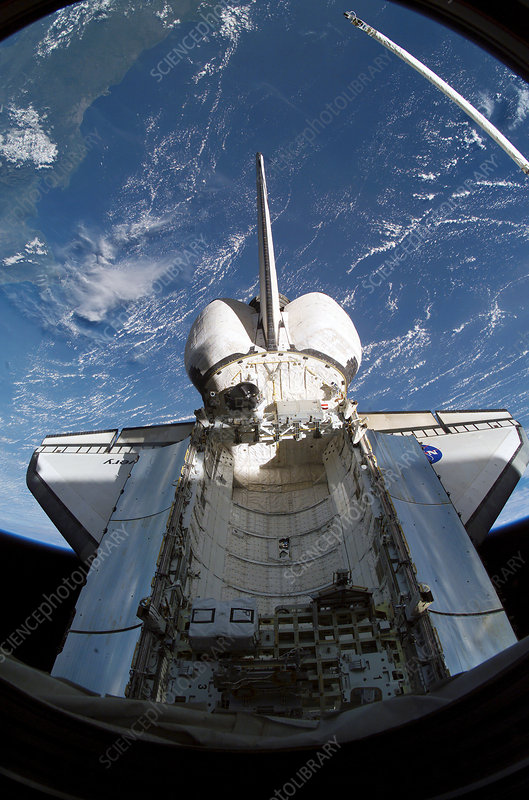 Discovery docked to the ISS, STS-114