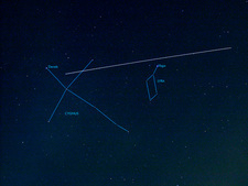 ISS light trail and constellations