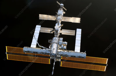 ISS from Discovery, 6th August 2005