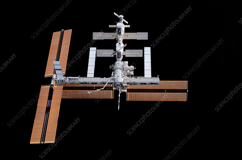 ISS with new solar panels, 17/09/2006