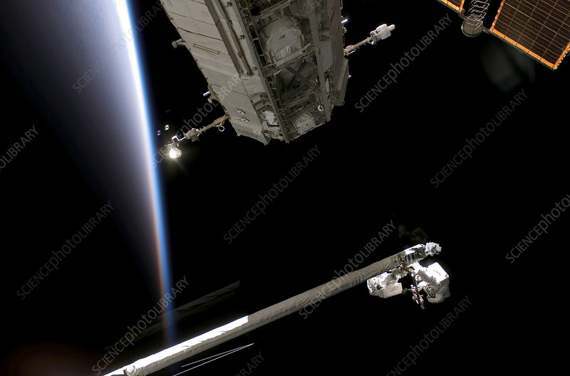 ISS space walk, July 2006