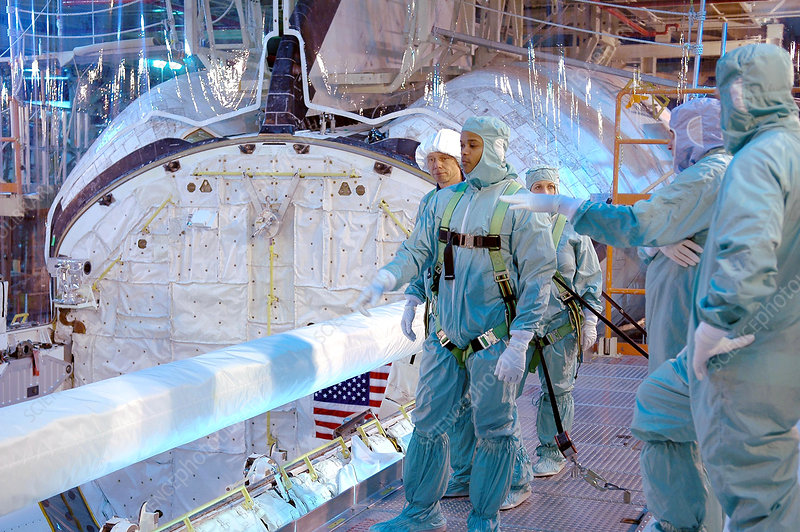 Crew training for STS-116 shuttle mission