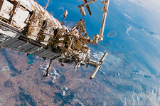 Astronauts spacewalking off the ISS