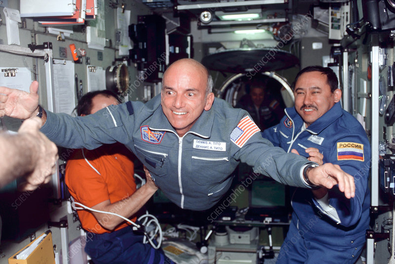 Dennis Tito, first space tourist