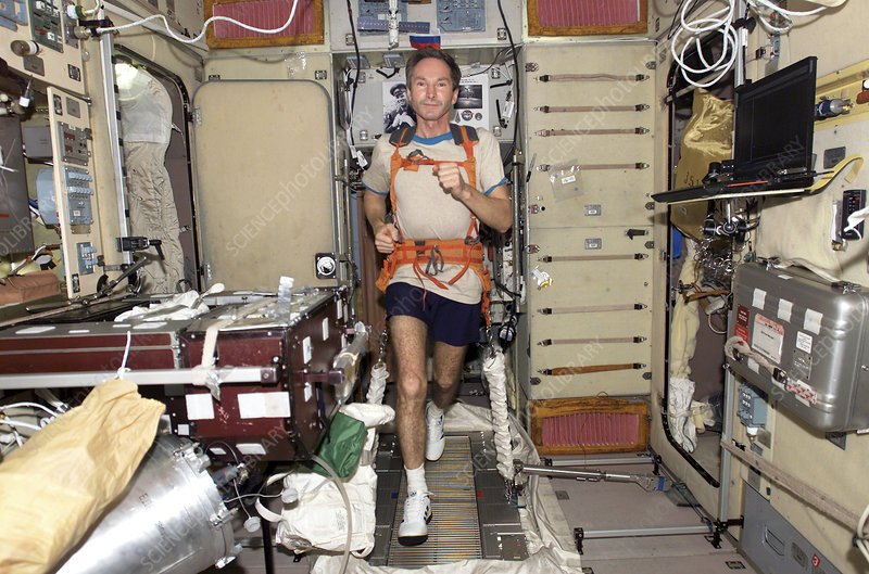 Exercising on International Space Station