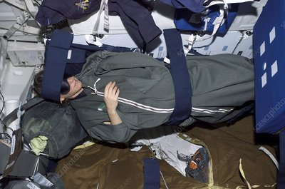 Sleeping on International Space Station