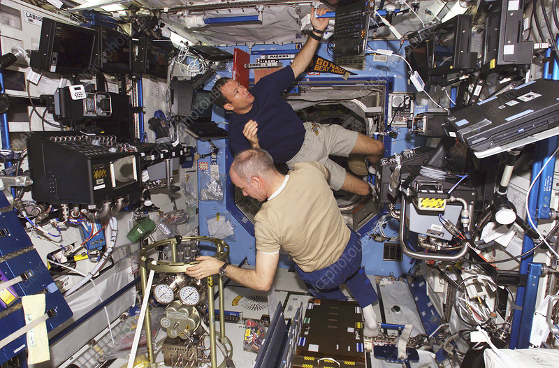 Maintenance on the ISS