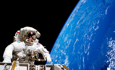Astronaut performing a spacewalk