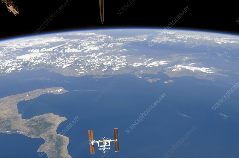 ISS over Italy and Greece, August 2007