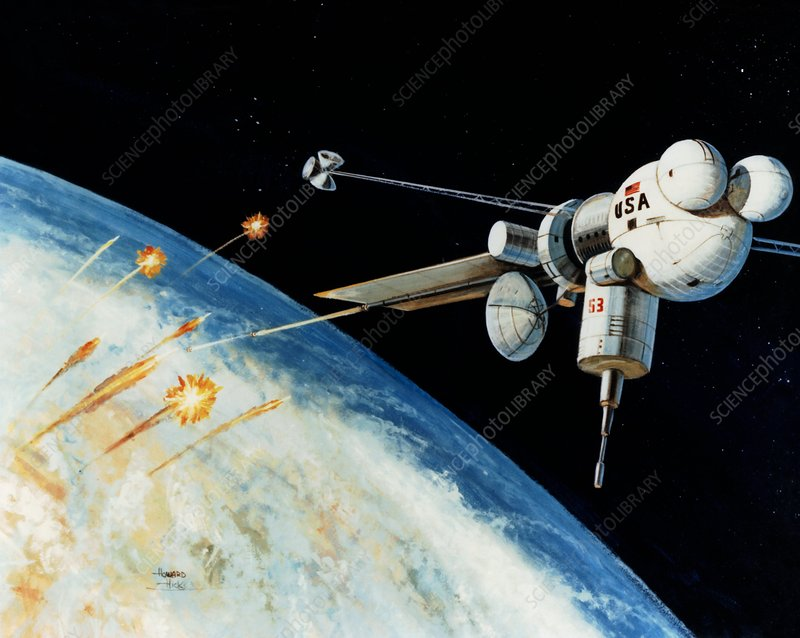 Artist's impression of the space-based railgun