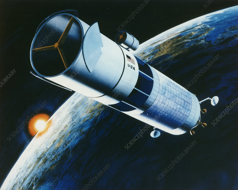 Artwork of space laser for Star Wars programme.