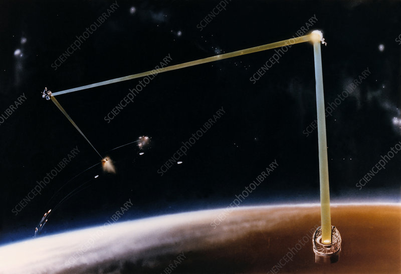 Artist's impression of ground-based SDI laser