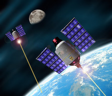 Military satellites firing lasers