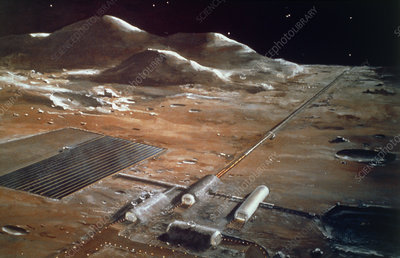 Artist's impression of a future Lunar Supply Base
