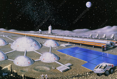 Artist's impression of future lunar base