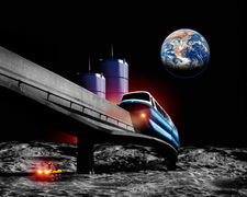 Moon monorail
