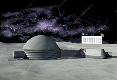 Moon base, artwork