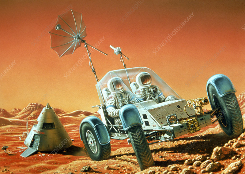 Artist's impression of a Mars Rover
