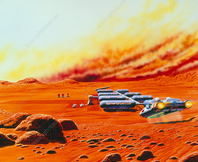 Artist's impression of a Mars base