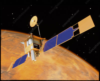 Artist's impression of Mars Global Surveyor