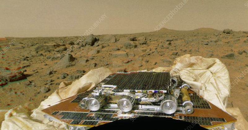 Sojourner before leaving the Mars Pathfinder