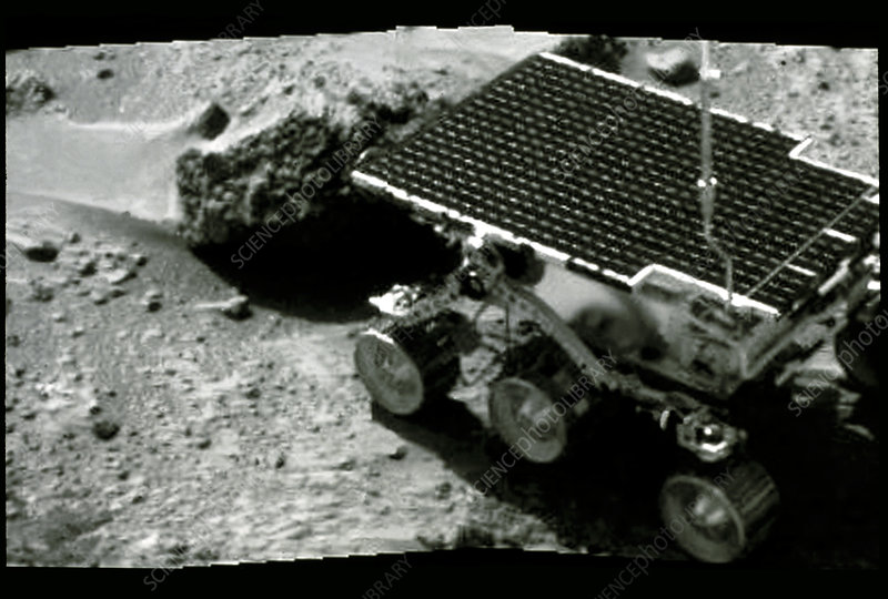 Sojourner on the surface of Mars