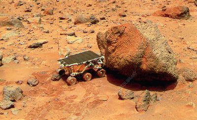 Sojourner robotic vehicle on Mars