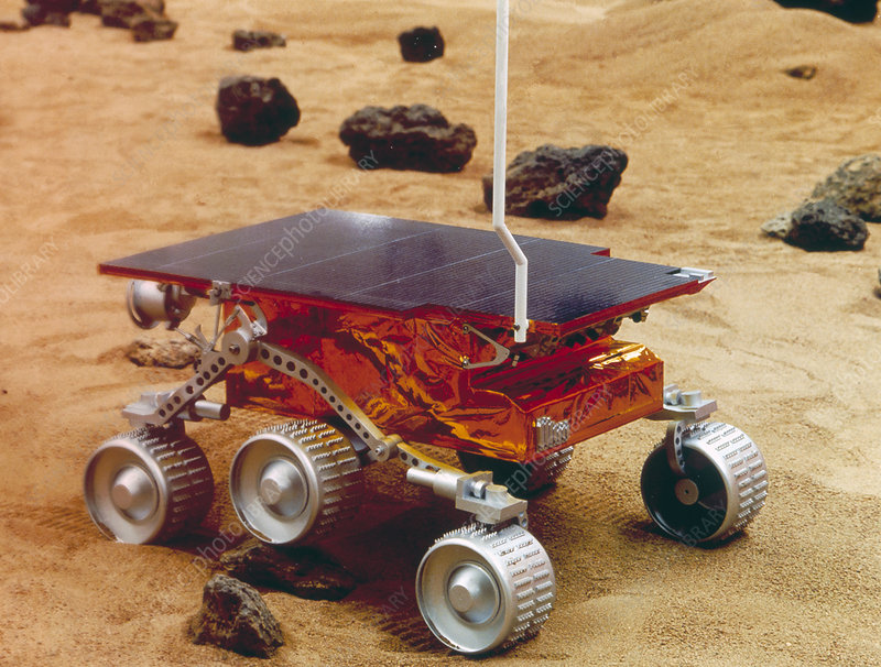 Model of the Mars Pathfinder rover Sojourner