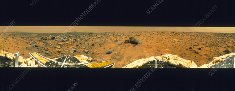 Sojourner robotic vehicle samples Mars yogi rock