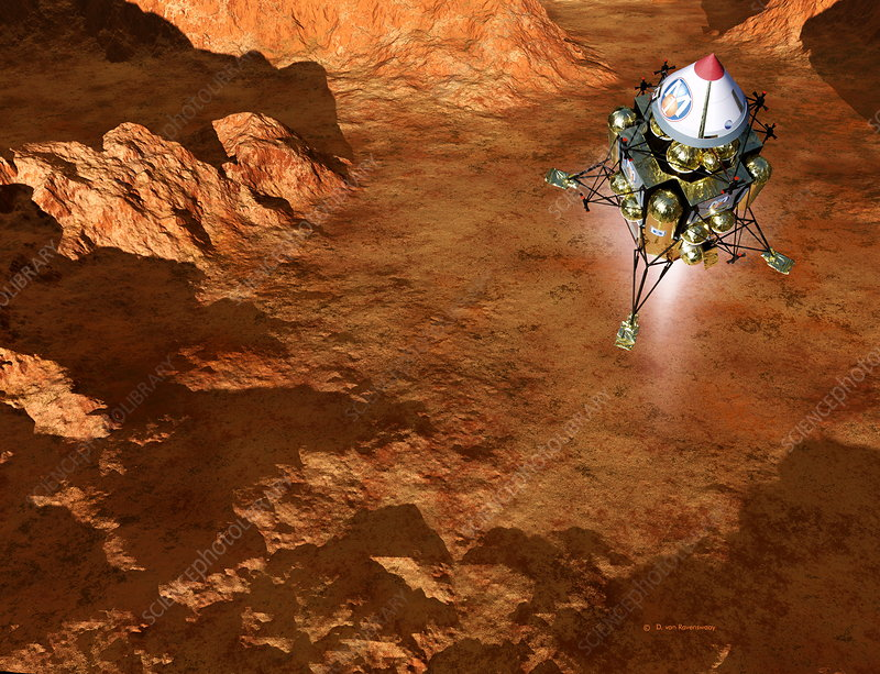 Spacecraft lands on Mars