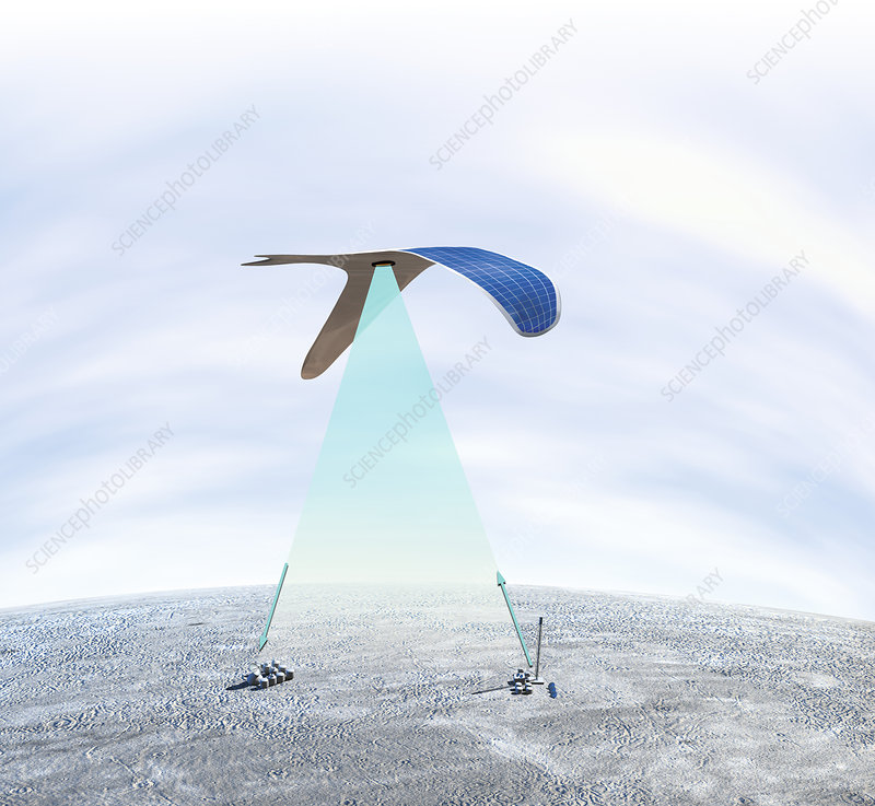 Solar-powered flapping wing