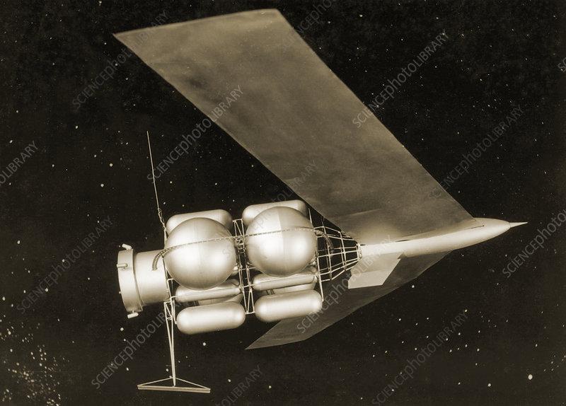 1950s Mars Spacecraft Design Stock Image S610 0134 Science