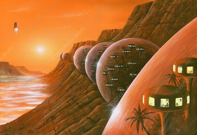 Martian colony, artwork