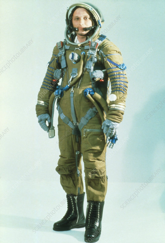 Russian cosmonaut wearing a Strizh space suit - Stock ...