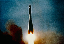 Launch of the Soviet spacecraft Vostok 1
