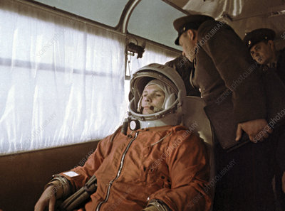 Yuri Gagarin before launch, 1961