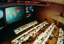 Soviet mission control centre at Baikonur.
