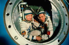 The crew of Soviet spacecraft Soyuz 37