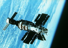 Salyut-7 with Soyuz T-14 in orbit