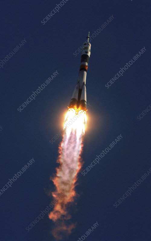 Soyuz TMA-8 mission launch, March 2006