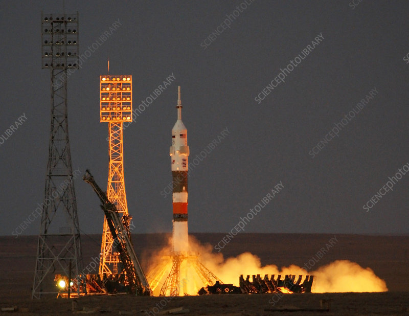 Soyuz TMA-11 mission launch, October 2007