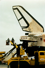 Inspection of the Soviet space shuttle, Buran.