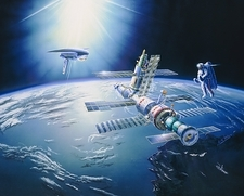 Artist's impression of the Mir space station