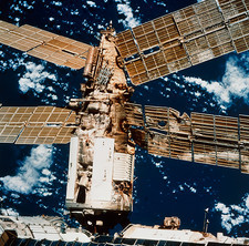 Damage to the Mir space station's Spektr module