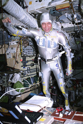 ESA astronaut on Mir Space Station, 1995