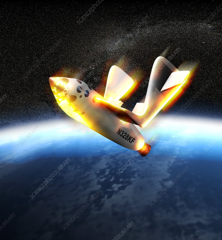SpaceShipOne re-entry