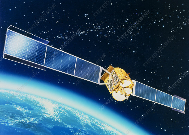 Artwork of the Telecom 1A communications satellite