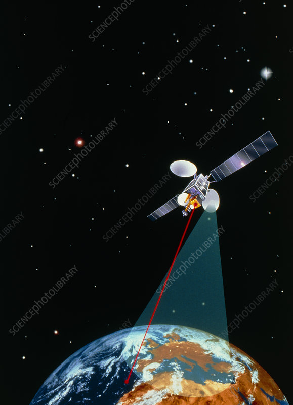 ARTEMIS satellite using laser data link